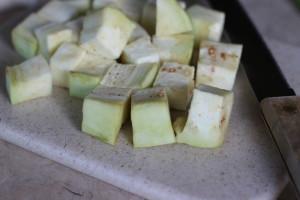 Eggplant cubes