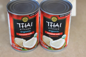 Cans of coconut milk