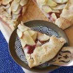 Apple Galette with cranberry sauce