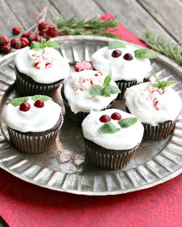 Vegan Chocolate Peppermint Cupcakes with Coconut Cream Frosting