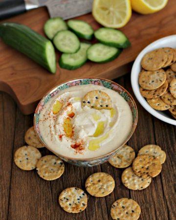 creamy white bean hummus