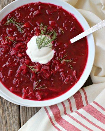 vegetarian beet borscht