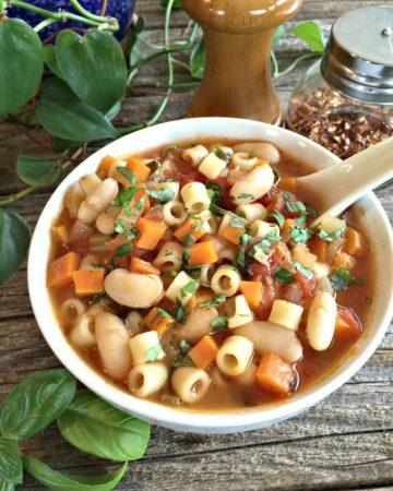 vegetarian pasta fagioli soup